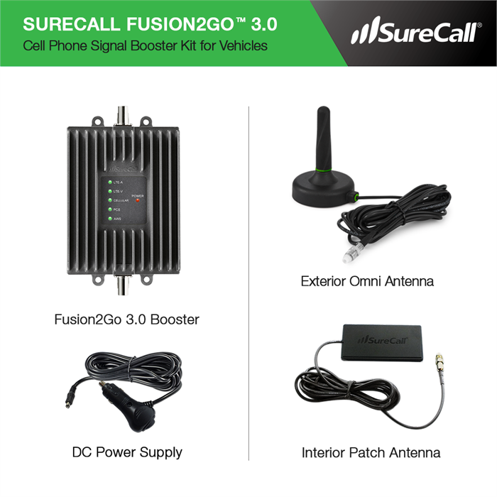 SureCall Fusion2Go 3 0 Mobile Signal Booster Kit