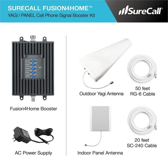 Surecall Fusion4Home 4G LTE Cell Phone Signal Booster Yagi